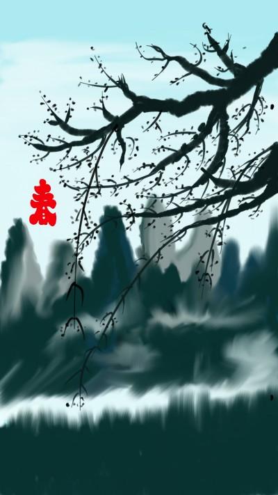 꽃눈이 생겻어요...   korea   Digital Drawing   PENUP
