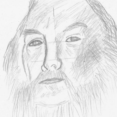 self-portrait sketch | Blueflow | Digital Drawing | PENUP