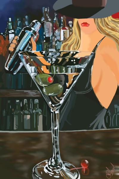 Martini - Shaken not stirred!   SummerKaz   Digital Drawing   PENUP
