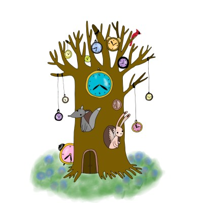Tree of clocks.   Trish   Digital Drawing   PENUP
