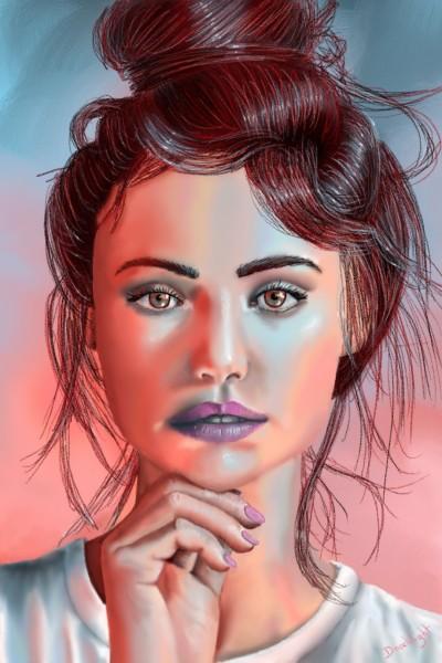 Violet lips | Doodilight | Digital Drawing | PENUP