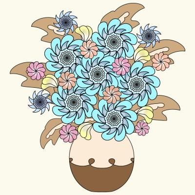 Vase of Flowers  | Trish | Digital Drawing | PENUP