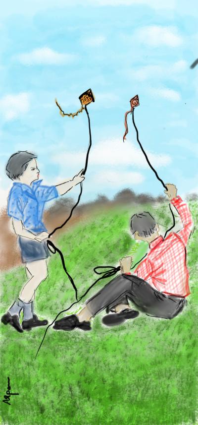 flying kite | arpu | Digital Drawing | PENUP