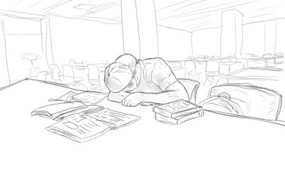 in a library | UpJ | Digital Drawing | PENUP