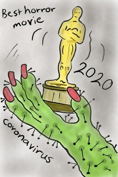 The best horror movie is.....  Coronavirus | rose | Digital Drawing | PENUP