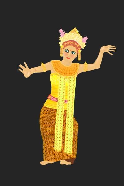 Bali Dancer | Diana | Digital Drawing | PENUP
