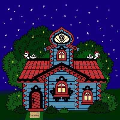 Little Blue House  | Trish | Digital Drawing | PENUP