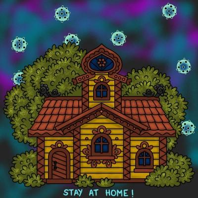 Queda't a casa! stay at home! quédate en casa   amelia   Digital Drawing   PENUP