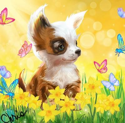Cute puppy | Chris | Digital Drawing | PENUP