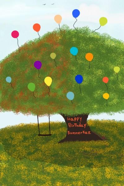 Happy Birthday @summerkaz | XavierViruet | Digital Drawing | PENUP