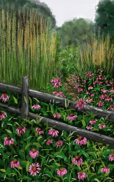 summer garden | FatemaMusharrof | Digital Drawing | PENUP