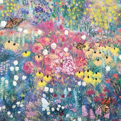Spring and butterflies  | whitehorse | Digital Drawing | PENUP