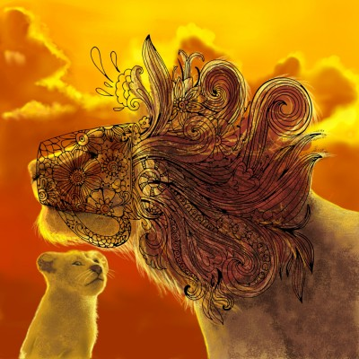 Lion King!! | Prashant | Digital Drawing | PENUP