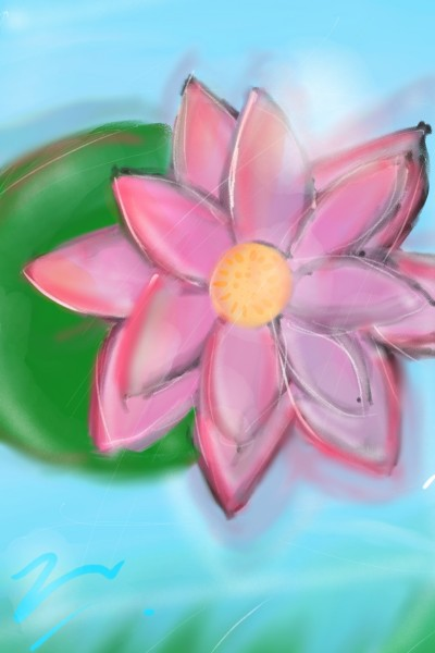 荷花 - Lily Flower   kyan   Digital Drawing   PENUP