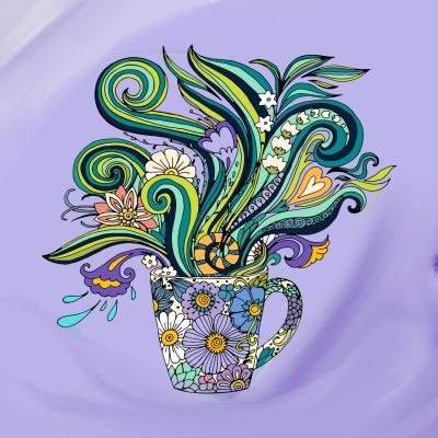 cup of flowers  | Miss | Digital Drawing | PENUP