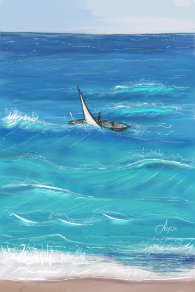 Waves of the Ocean   Ayca   Digital Drawing   PENUP