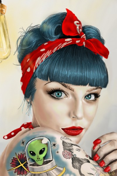 rockabilly girl | Doodilight | Digital Drawing | PENUP