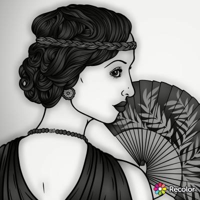 Portrait Digital Drawing   con   PENUP