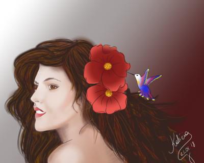 Beija-flor  | Katicia | Digital Drawing | PENUP