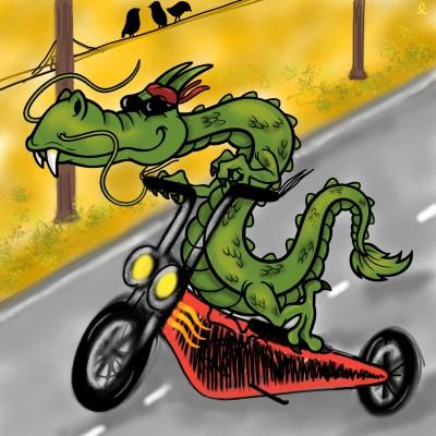 Gaudint en moto - enjoying on a motorcycle | amelia | Digital Drawing | PENUP