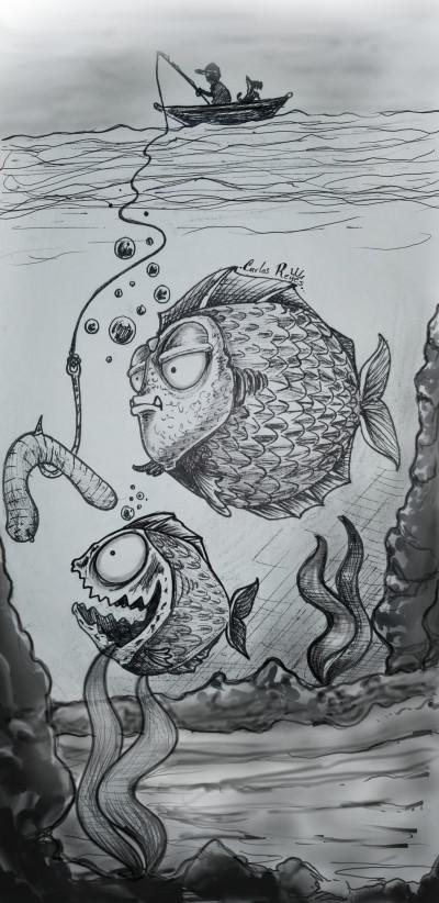 River Fishing   | creyes | Digital Drawing | PENUP