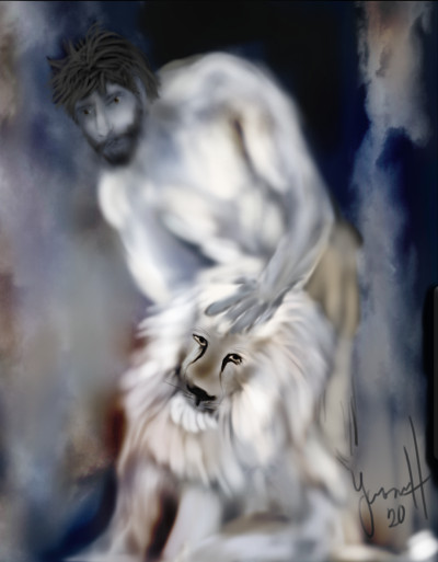 Peaceful warrior    whitehorse   Digital Drawing   PENUP
