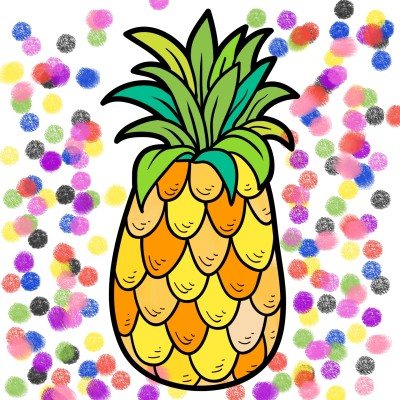 My Pineapple  | Candy | Digital Drawing | PENUP