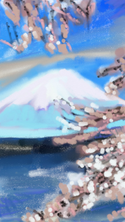 Mt. fugi crapas style old draw   4the_birds.   Digital Drawing   PENUP