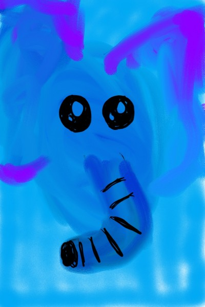 Baby Blue the Elephant | avictorias13 | Digital Drawing | PENUP
