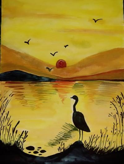 sunset | dwitipriya | Digital Drawing | PENUP