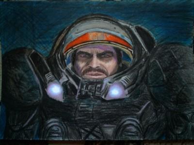 Jim Raynor. С Днем Космонавтики ! | _Captain_Radi_ | Digital Drawing | PENUP