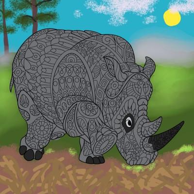 Rhino | Chris | Digital Drawing | PENUP