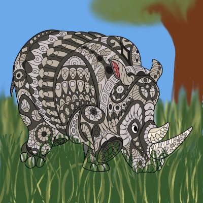 Rhino Dreams | CecropiaEclipse | Digital Drawing | PENUP