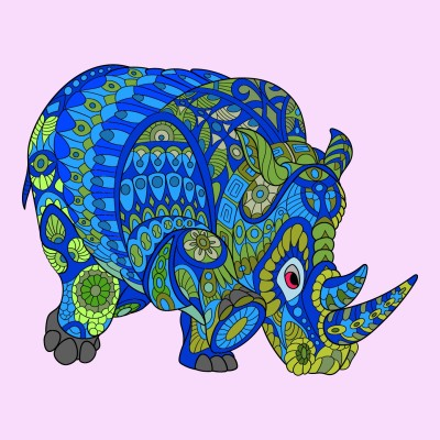 Water&Earth Rhino.by The Bearded Frog | Frog | Digital Drawing | PENUP