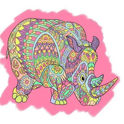 Coloring Digital Drawing | Glow | PENUP
