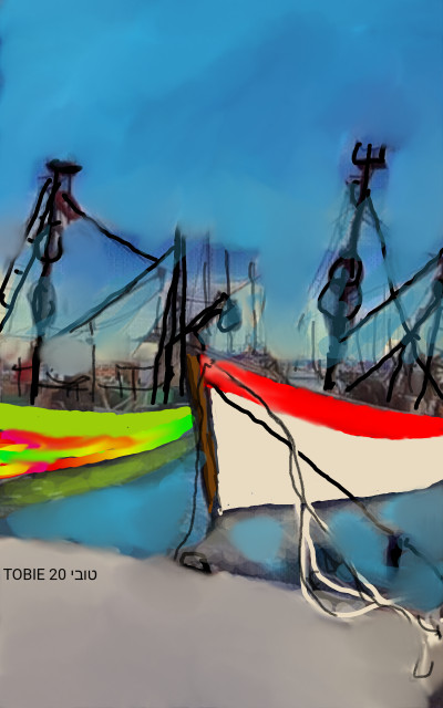 FISHING BOATS ON VACATION  | Tobie.ISR | Digital Drawing | PENUP