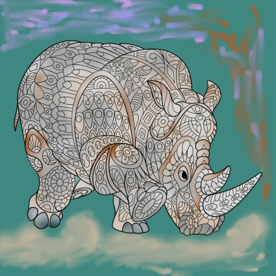 Rhinocéros    richard   Digital Drawing   PENUP