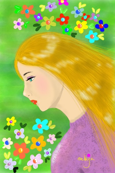 spring whispers♡ | ockja | Digital Drawing | PENUP