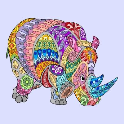 Rhinocéros color    Lola   Digital Drawing   PENUP
