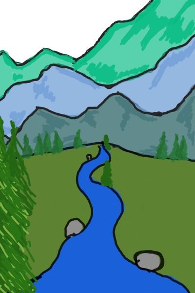Landscape Digital Drawing | mel | PENUP