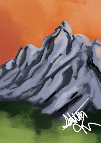 Landscape Digital Drawing | S0ftga0t | PENUP
