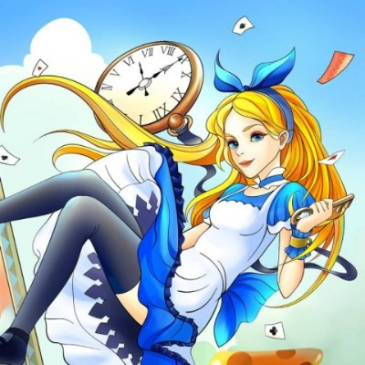 Alice  In  Wonderland  | Gaycouple | Digital Drawing | PENUP