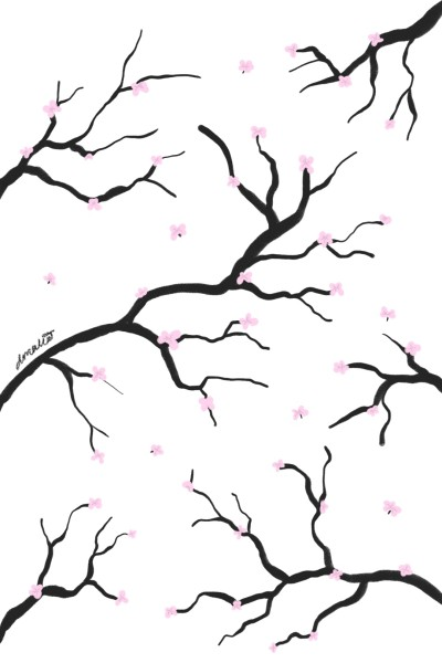 Cherry blossom trees | QuirkyGirl | Digital Drawing | PENUP
