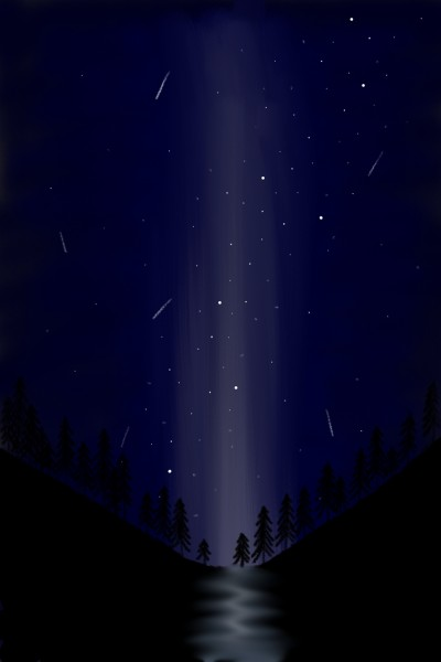 Night time trees | QuirkyGirl | Digital Drawing | PENUP