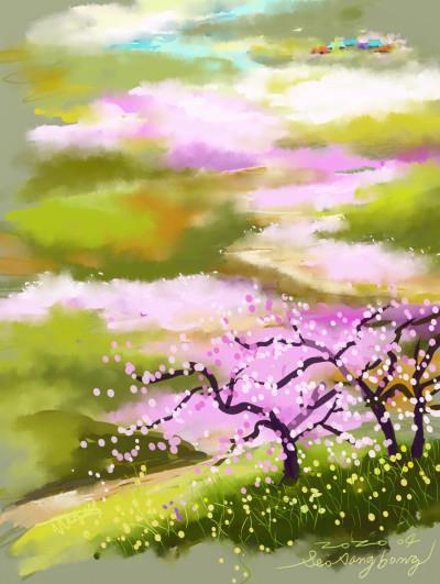 복사꽃 능금꽃 피는 고향 | SSB | Digital Drawing | PENUP
