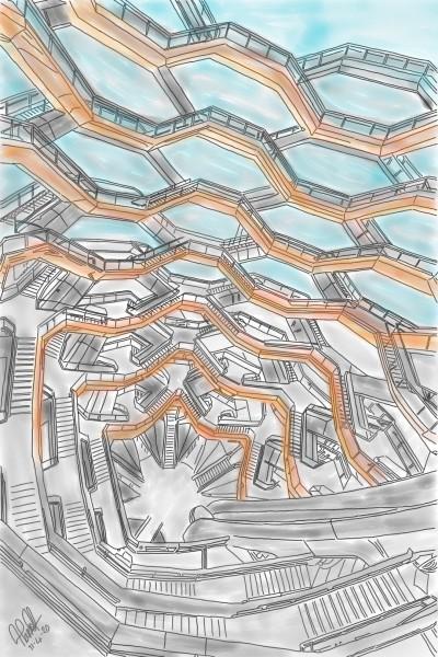 The Vessel, Hudson Yard, New York | StevenCarroll | Digital Drawing | PENUP