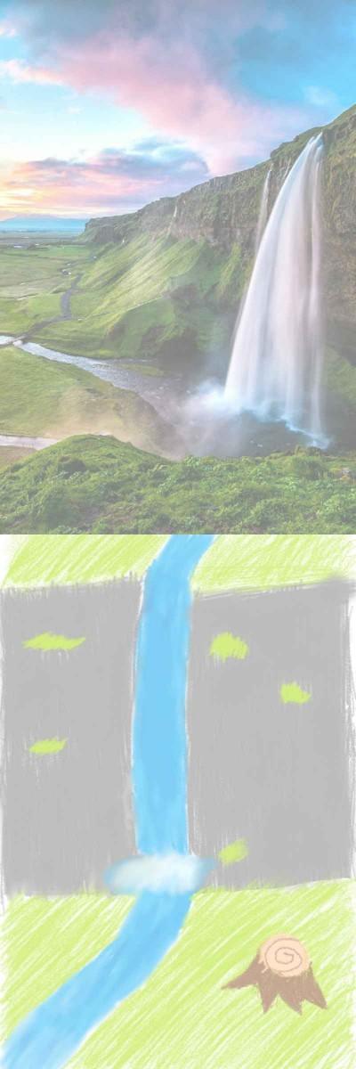 waterfalls | xAshx | Digital Drawing | PENUP