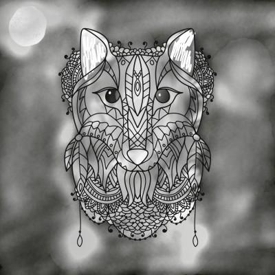 Moon wolf colored | Salty_Freak | Digital Drawing | PENUP