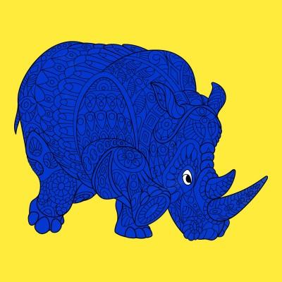 Blue Rhino | captnjs | Digital Drawing | PENUP