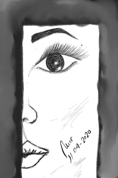 Portrait Digital Drawing | Aisha | PENUP